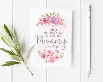 First Mother's Day Card, Personalized 1st Mother's Day Card, First Mothers Day As My Mummy, First Mothers Day Card Wife, Pretty Mothers Day