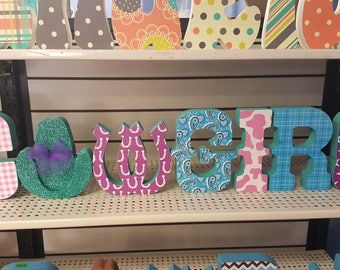 Cowgirl stand up letters
