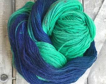 Hand Dyed Yarn,The Shores of Avonlea Yarn,Anne of Green Gables Yarn,Fingering Weight,80/20 Superwash Merino,100 gram,Toad Hollow yarns