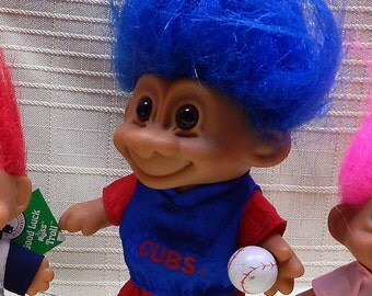 CUBS Troll Doll Vintage Clean & in Good Condition 4 1/2 Without the Hair RUSS TROLL Authentic