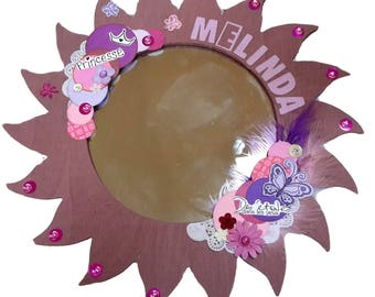 "Wrecked ""Mélinda"" Customize wooden mirror"
