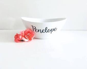 Personalized Pet Bowl | White Porcelain Dog Bowl | Cat Food Bowl | Dog Food Bowl | Dog Gift | Cat Gift | Custom Dog Bowls | Pet Dishes