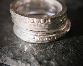 5 Sterling Silver Stacking Rings