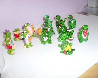 14 Kinder Egg toys from early 90's. Turtles and Crocodiles. Crocodile, Turtle, Kinder, Egg, Surprise, Tortoise, Shell,