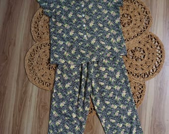 1950s Two Piece Lounge Wear Size S/M Handmade