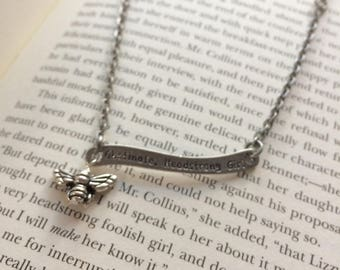 My Poor Nerves - Pride and Prejudice Quote Necklace
