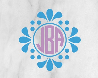 Monogram Flower Decal