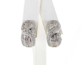 Diamond Earrings 14k White Gold 1.00 carat