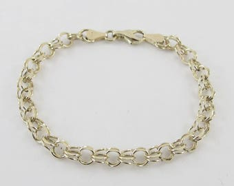 14k Yellow Gold Charm Bracelet 6 7/8 Inches 7.00 grams
