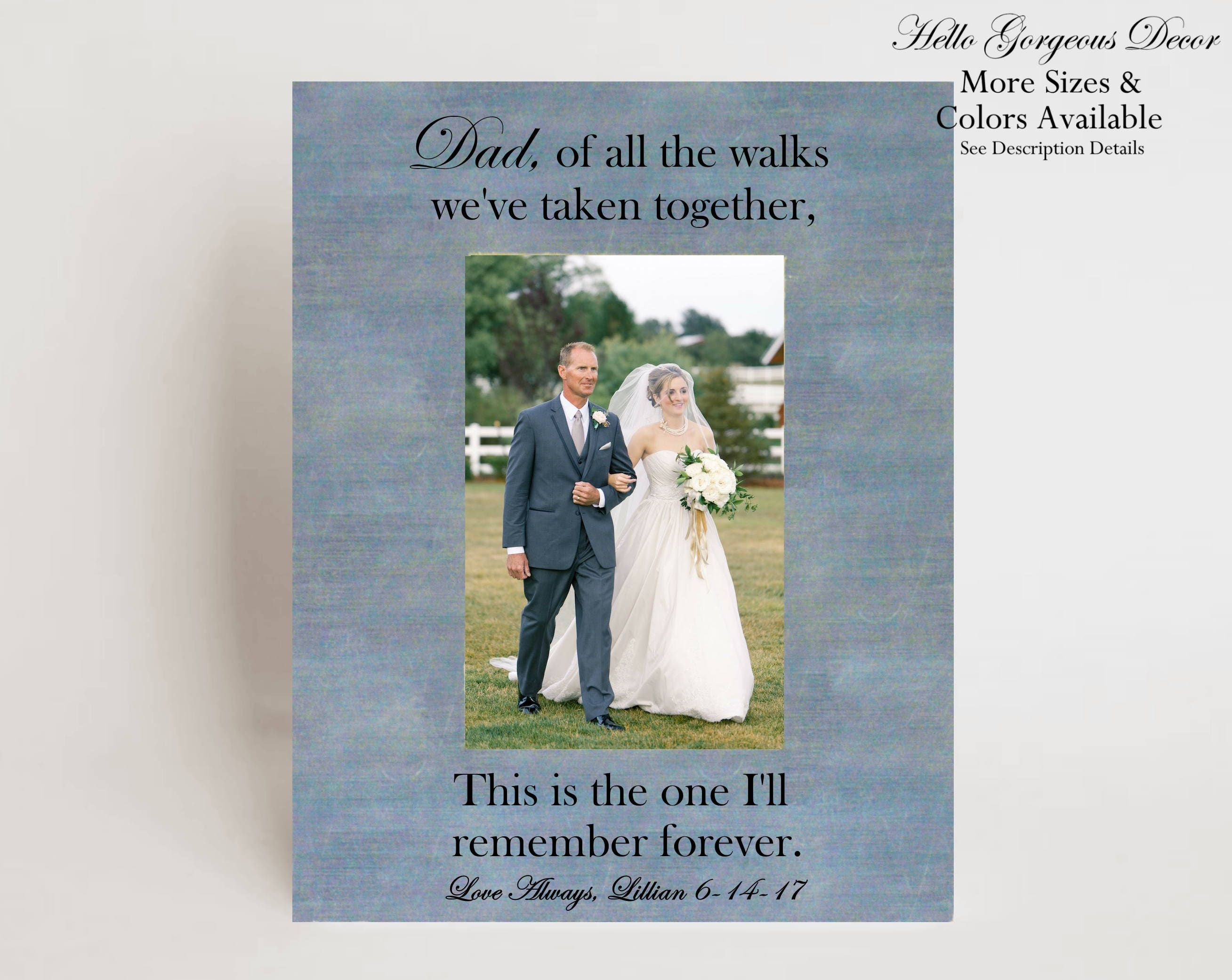 Father Gift To Daughter On Wedding Day: Father Of Bride Gift Picture Frame Personalized Gift To