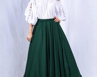 Civil War Victorian Ren Faire XTRA FULL Drawstring Skirt Petticoat