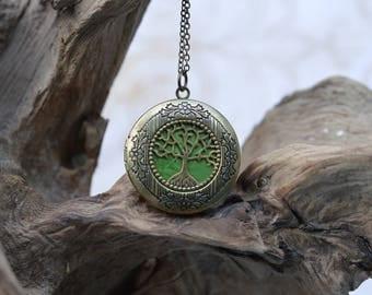 Tree of Life Locket in Antique Bronze