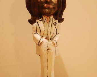 John Lennon sculpture, The Beatles art, Handmade sculpture