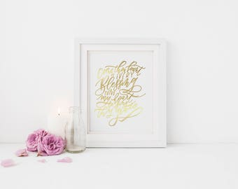 Come Thou Fount || Gold Foil Print