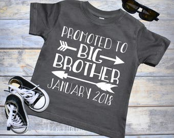 Promoted to Big Brother Shirt. Pregnancy Announcement Shirt. Big Brother Shirt. Pregnancy Reveal Shirt. Big Brother Announcement Shirt.