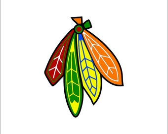 Chicago Blackhawks Decal Etsy - Custom vinyl decals chicago