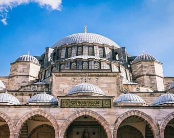 Photographie Fine Art de la mosquée Süleymaniye d'Istanbul en Turquie