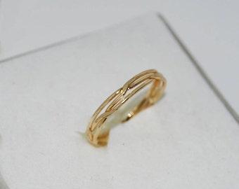 Engagement rings 14k,Celtic diamond rings,Celtic eternity ring,Popular Asgard ring,Celtic braided knot ring.