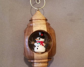 Hand Crafted Wood Christmas Ornament