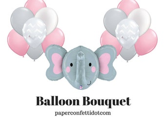 Elephant Balloon Bouquet | Elephant Baby Shower | Elephant Baby Shower  Decorations | Elephant Balloon |