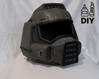DIY DOOM guy helmet template for EVA foam