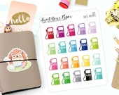 Colorful Gas Pump Bill Tracker Planner Stickers - Fits Most Planners - Car Stickers - Bill Stickers - 124
