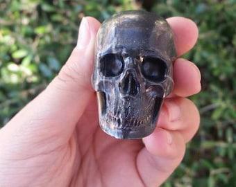"Picasso Jasper Hyper-Realistic Skull # B2~ Hand Carved ~ 2.1"" Unique~ Collector's ~ Altar ~Beautiful Markings~ Skull Healing ~ Meditation"