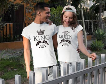 Couples shirts - King and Queen couples shirts - King queen shirts - Matching couples shirts - Couple tees - King queen matching shirts