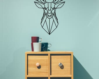 Deer Wall Sticker Etsy - Custom vinyl wall decals deer