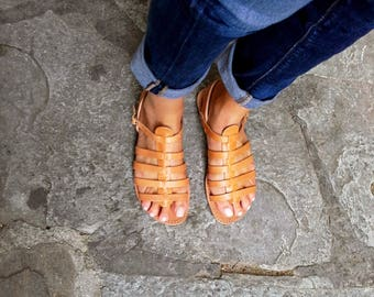 Gladiator Leather Sandals, Handmade sandals, Womens sandals, Genuine leather