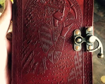 Leather Bound Journal, Goddess Diary, Goddess Journal, Goddess notebook