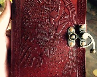 Leather Bound Journal, Goddess Diary, Goddess Journal, Goddess notebook