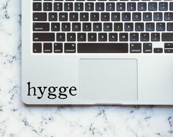 Hygge / Hygge Decal / Hygge Decor / Hygge Vinyl Decal / Hygge Relax / Relax / Relax Decal / Macbook Decal / Hygge Gift / Hygee Art / Hygge