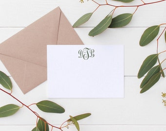 Classic Initial Monogram Stationary