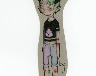 Laminated pastel goth guro drawing