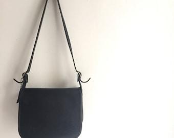 NYC Vintage Coach Bag / Black Leather Coach Purse / Vintage Coach Shoulder Bag