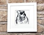 Custom Pet Portrait, Dog Portrait, Pet Art, Pet Drawing, Dog Illustration, pet portrait custom, pet lover gift, pet memorial, pet gift