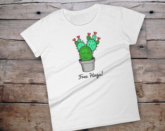 Cactus shirt, cactus tshirt, cactus shirt women, free hugs, cactus tee, cactus tee women, tshirt with saying women, shirt with saying, cacti