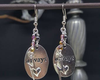 Always - magic - severus - love - lightning - book - potter - witch earrings