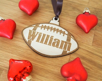 Football Gift - Personalized Gift For Boyfriend - Football Ornament - Coach Gift - Personalized Football - Sports Gift - Football Mom