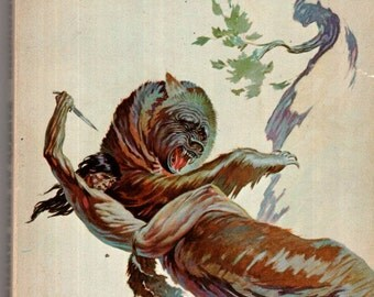 Edgar Rice Burroughs Tarzan At The Earth's Core Ace Paperback Science Fiction Book 1960's Frank Frazetta Cover
