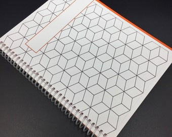 Personalized Spiral Hardcover Notebook Journal | 200 pages | Dotted bullet Lined Grid Graph Seyes French Ruled Gregg Ruled Hexagon | Gift