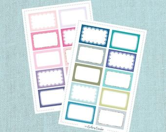 Colorful Half Box Stickers
