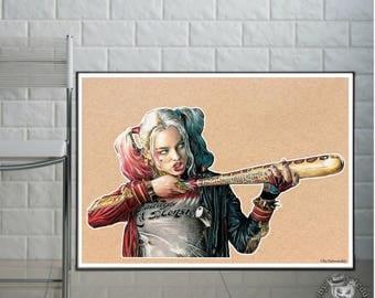 Harley Quinn  - Fine Art Print - A4/A3