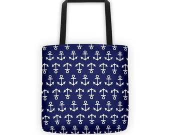 Anchor Pattern Tote Bag