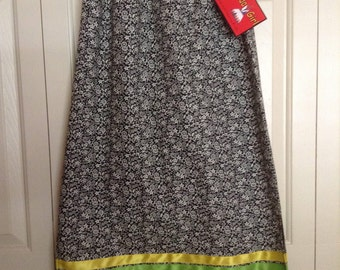 Native American Regalia *Nakoda Made* Pow Wow STRAIGHT Style Ribbon SKIRT Size 12 (M)