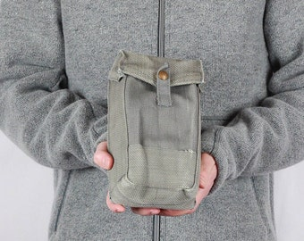 Magazine Pouch, Army Bag, Military Surplus Bag, Waist Canvas Belt Case, Pouch Fishing Hunting Camping Gear, Canvas Bag Fire Kit Pouch Gifts