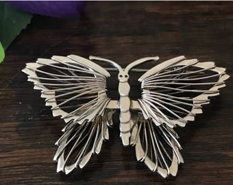 Silver brooch Sterling Butterfly - Silver 925 Butterfly insect jewelry