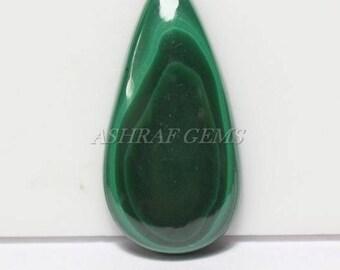 40% Off, Natural MALACHITE, 38x19x6.5 mm Size, Pear Shape Gemstone, Smooth Loose Cabochon, +++AAA Quality Malachite Gemstone Mc#3753