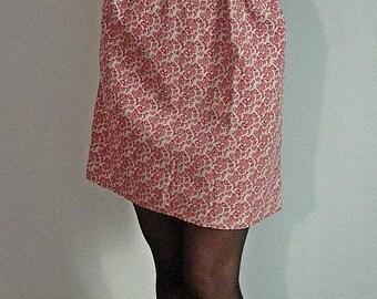 Beige corduroy dress and plum